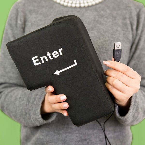 Big Enter Key USB Pillow Anti-stress Relief Super Size Enter Key Unbreakable - GiftingWardrobe