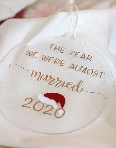 Wedding Postponed in 2020 Christmas Tree Bauble