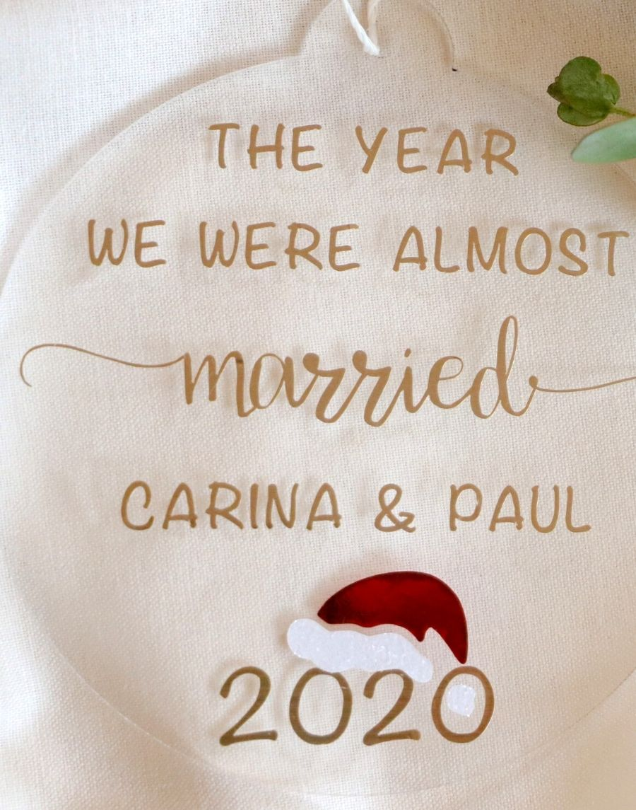 personalised christmas gift for those who had their wedding postponed