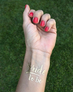 Bride to Be Temporary Tattoo