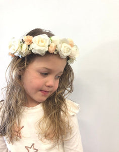 Satin Fabric Flower Crowns for Flower Girls