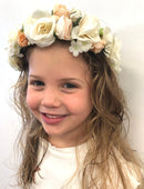 Load image into Gallery viewer, Satin Fabric Flower Crowns for Flower Girls