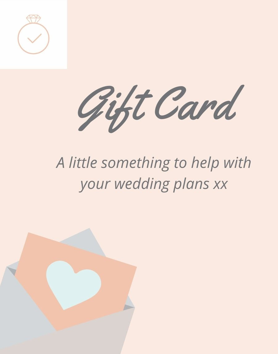 Manage My Wedding Gift Card Image. A little something to help with your wedding plans xx