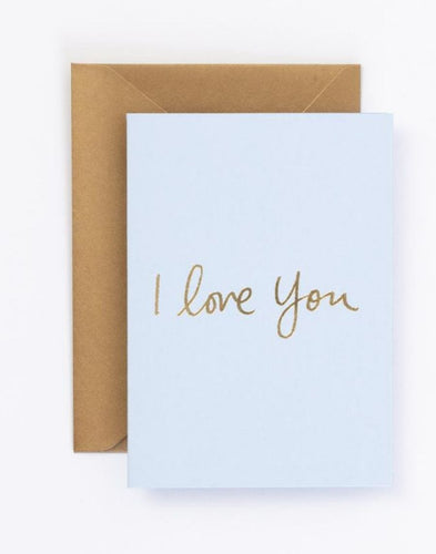 I Love You Gift Card and Envelope