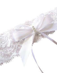 Maeve White Lace Bridal Garter