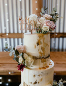 Load image into Gallery viewer, Wedding cake toppers better together. Handmade to suit your wedding theme