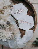 Load image into Gallery viewer, Wedding name signs and favours. Handmade marble wedding name place coasters