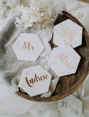 Load image into Gallery viewer, Wedding favours handmade marble signs perfect for name places, drink coasters and