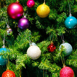"24pcs 1.57"" Glitter Christmas Balls Bauble Tree Hanging Decorative Ornament Wedding Party Home Decor"