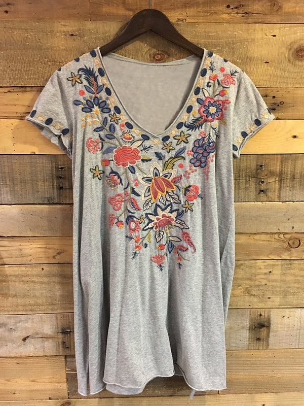 Casual Short Sleeve V Neck Plus Size Tops