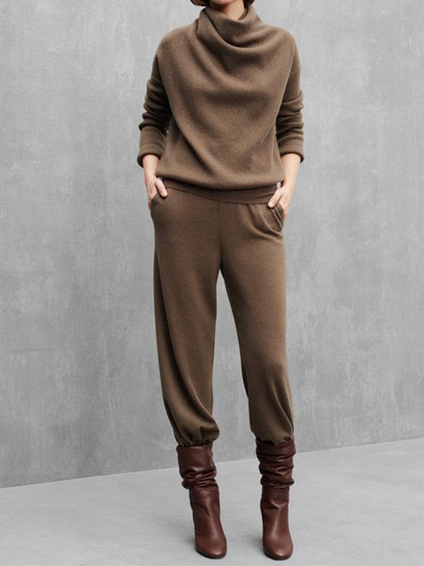 Long Sleeve Knitted Casual Women Suits