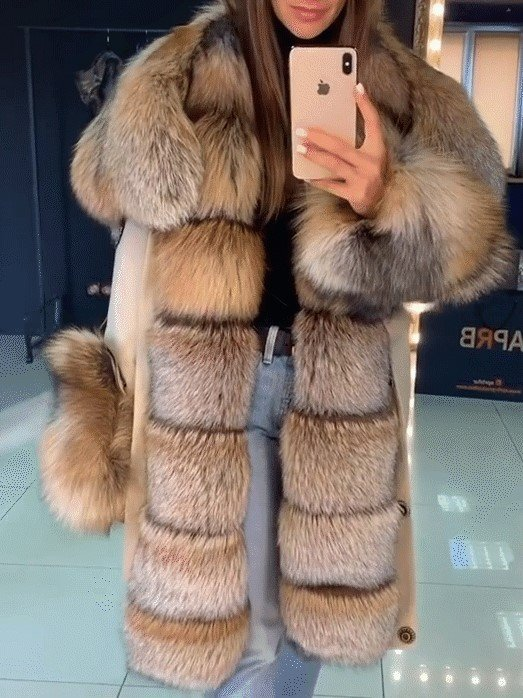 Winter Warm Fluffy Coat Faux Fur Overcoat Parka