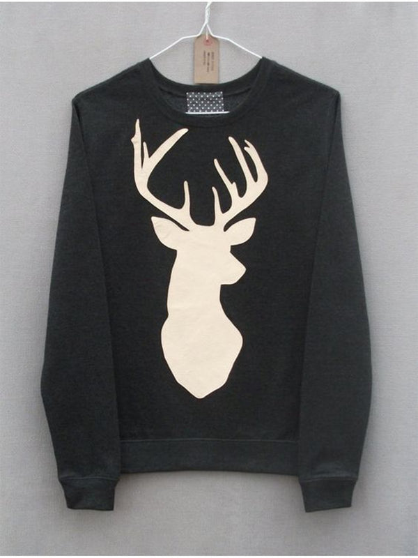 Christmas Print Long Sleeve Sweatshirt