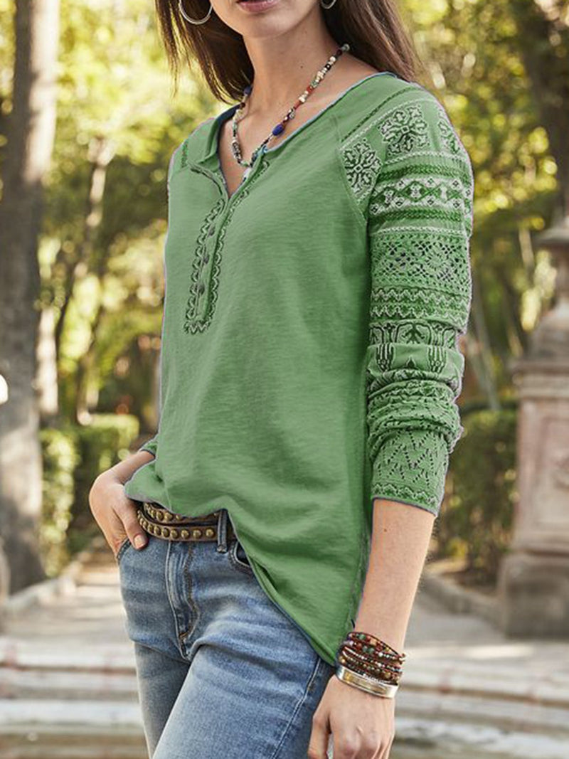 Womens Shirts V Neck Long Sleeve Button Tops