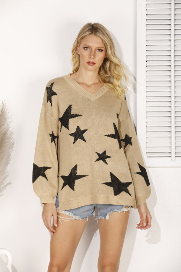 Casual Shift Long Sleeve Sweater