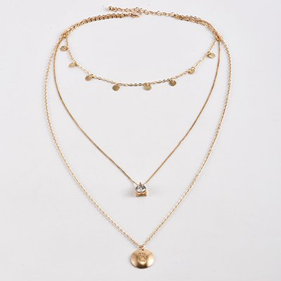 Golden Elegant Alloy Vintage Holiday Daily Beach Necklace