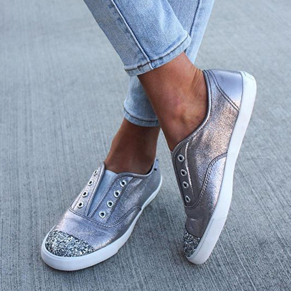 Women Color Block Slip-on Sneakers