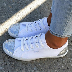 Flat Heel  Lace-up Sneakers