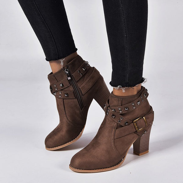 Women Casual Daily Buckle Strap Ankle Boots