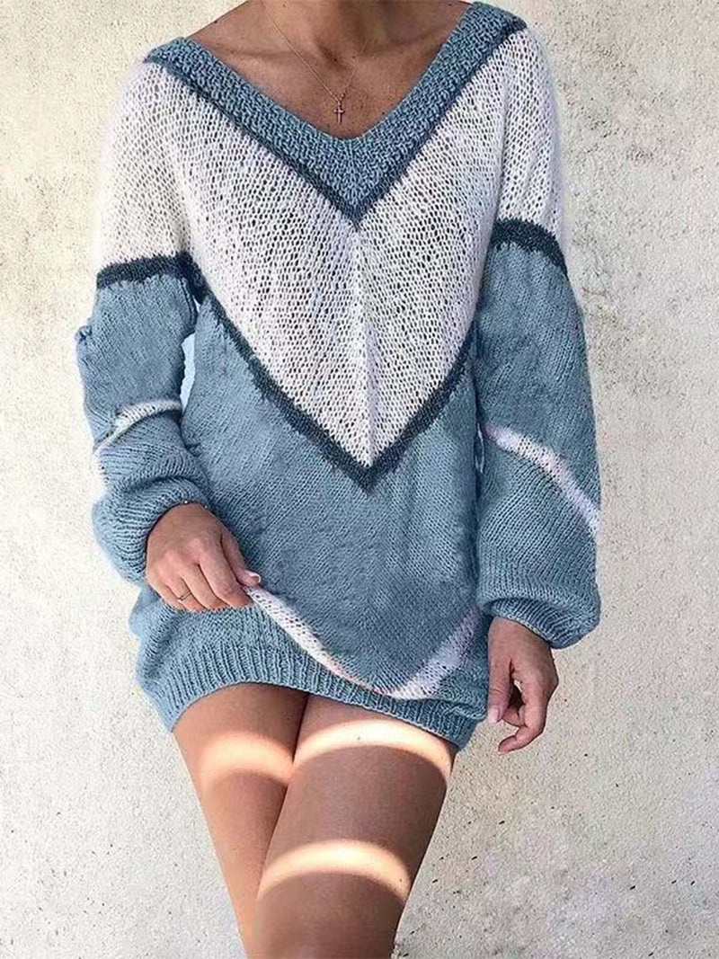Geometric Cotton Sweater