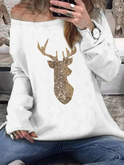 Casual Christmas Snowman Shirts & Tops