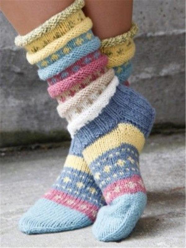 Knitted Casual Knit Socks for Women