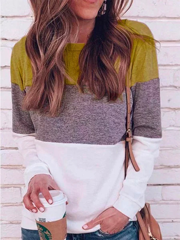 Casual Stand Collar Color-clock Long Sleeve Shirt