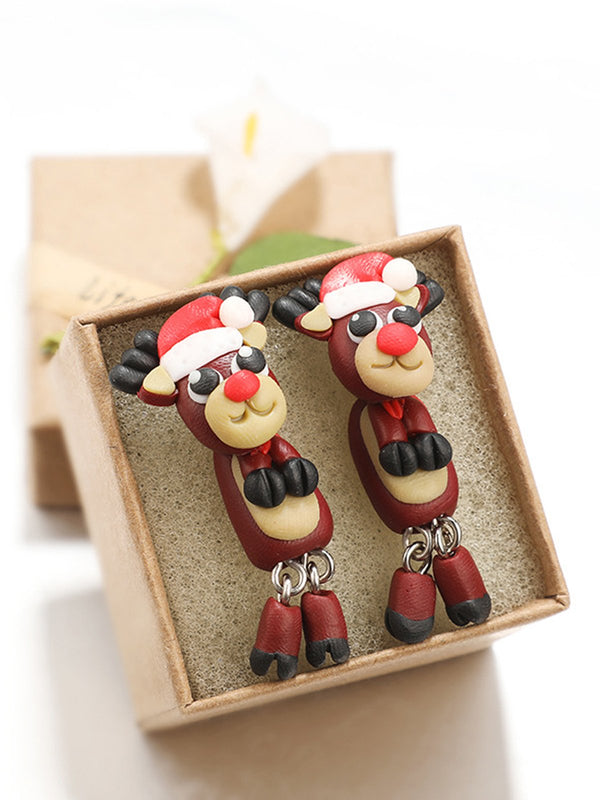Creative Christmas Deer Earrings