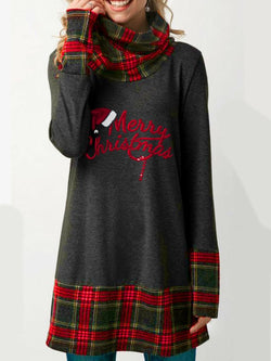 Christmas Red Vintage Cotton-Blend Shirts & Tops