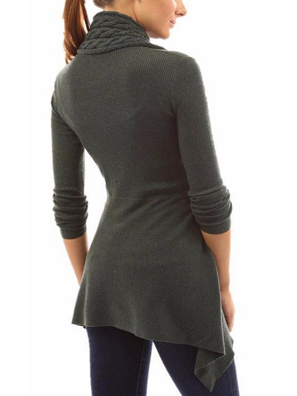 Long Sleeve Solid Knitwear