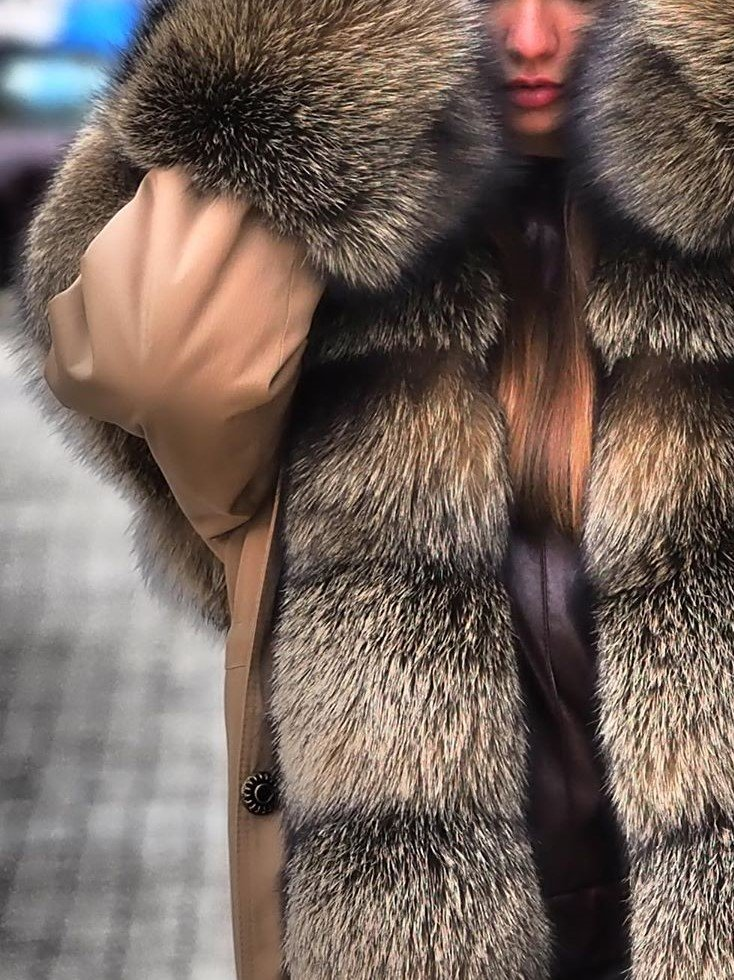 Winter Warm Fluffy Overcoat Faux Fur Parka