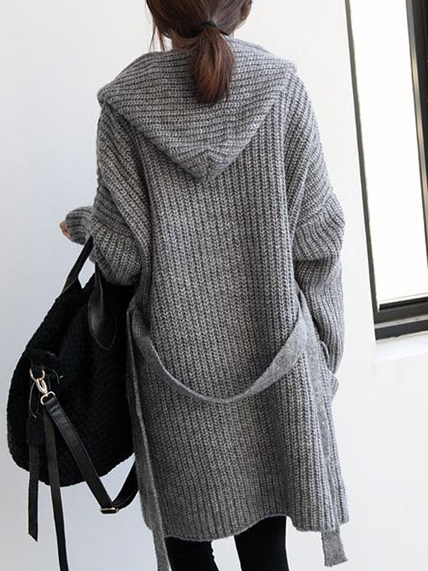 Gray Casual Shift Knitwear