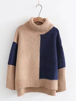 Solid Knitted Long Sleeve Knitwear