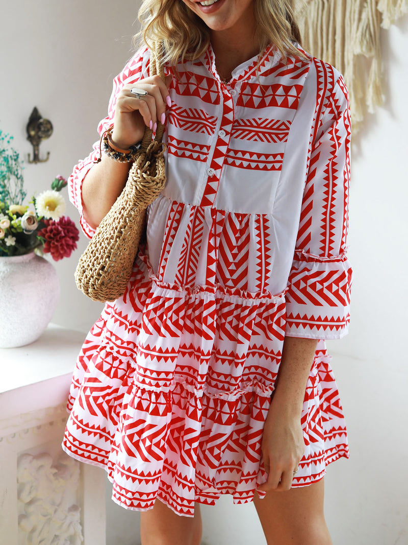 Casual Bell Sleeve Dress