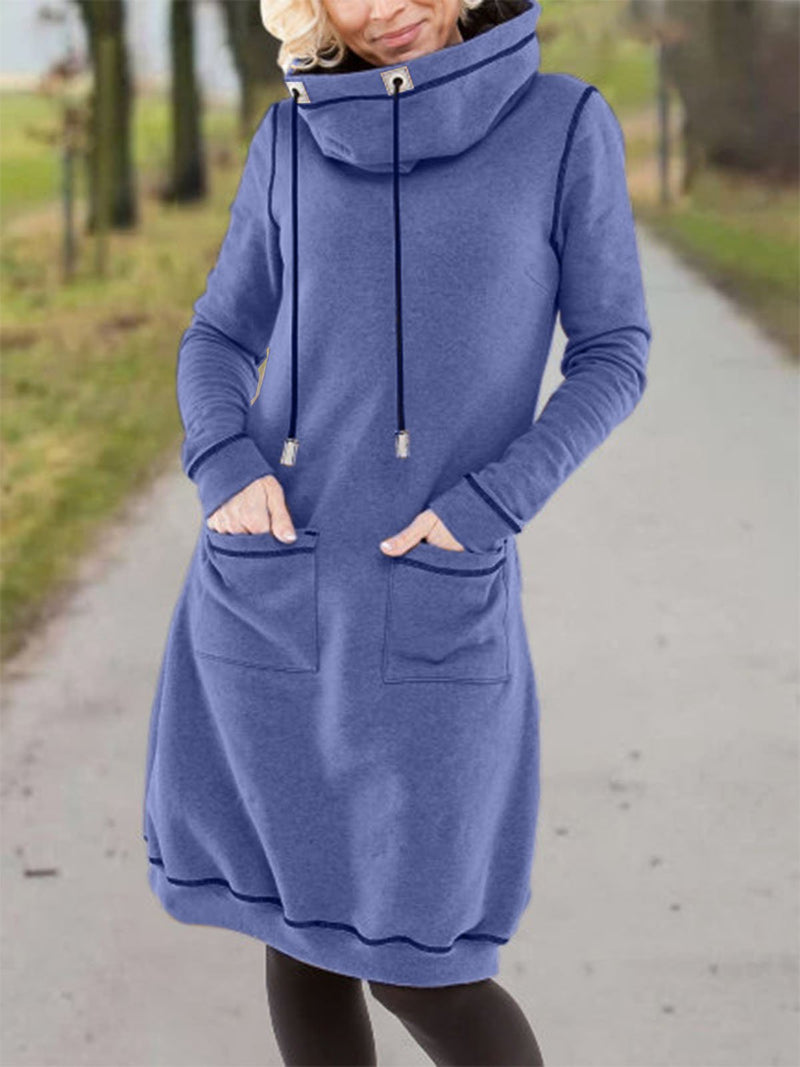 Long Sleeve Cotton-Blend Casual Dresses