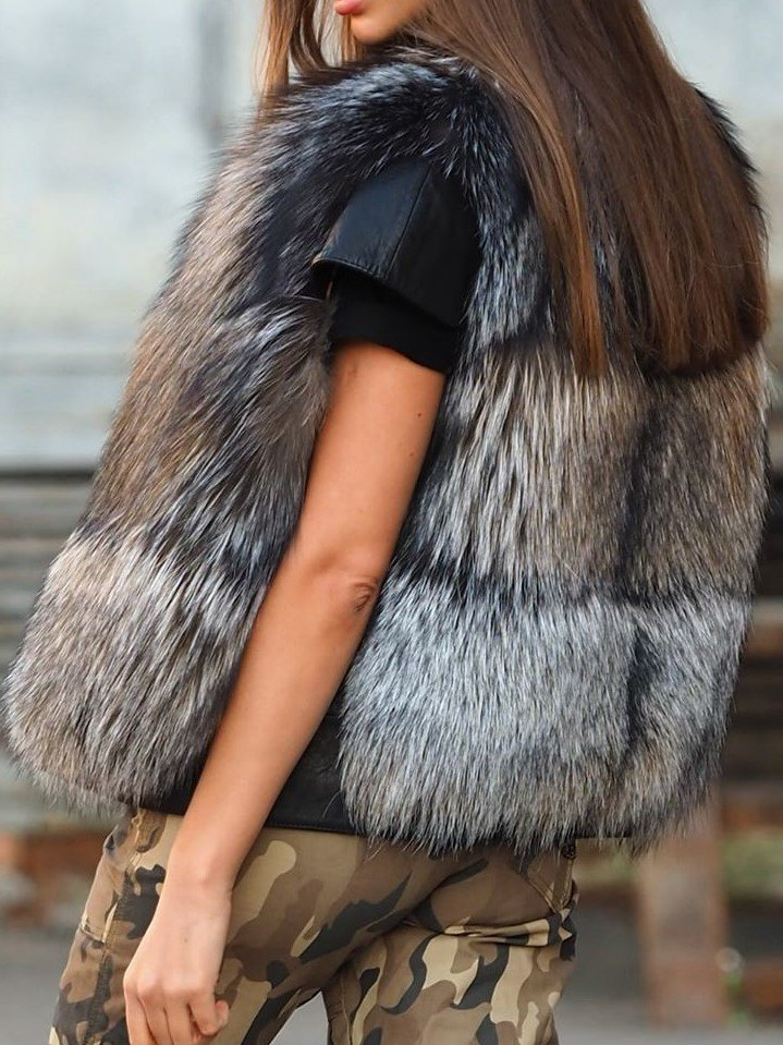 Winter Warm Fluffy Faux Fur Vest