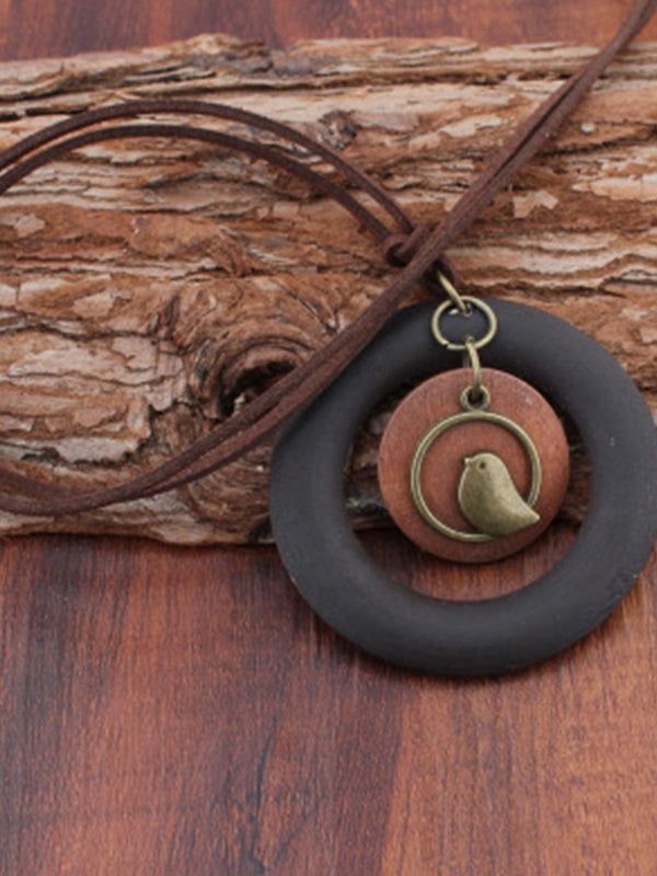 Black Alloy Paneled Animal Women All Season Necklace