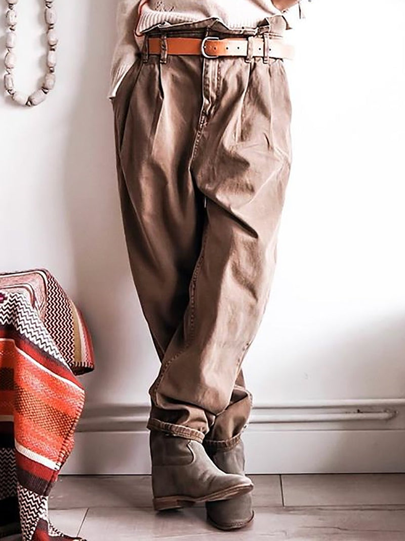 Vintage Pockets Khakis Pants
