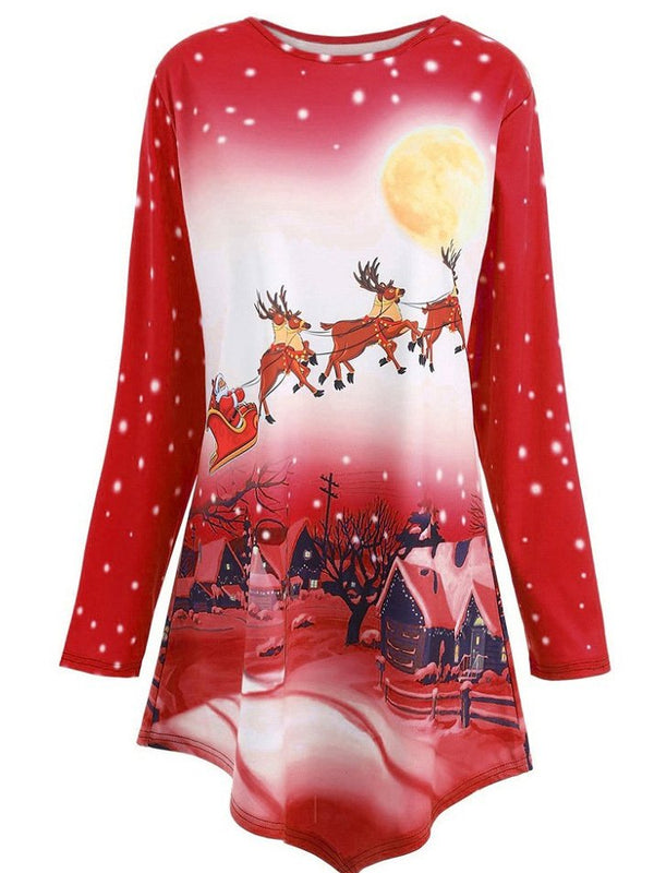 Christmas Floral Casual Dresses