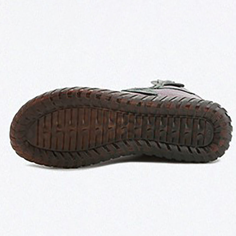 Genuine Leather Zipper Shoes