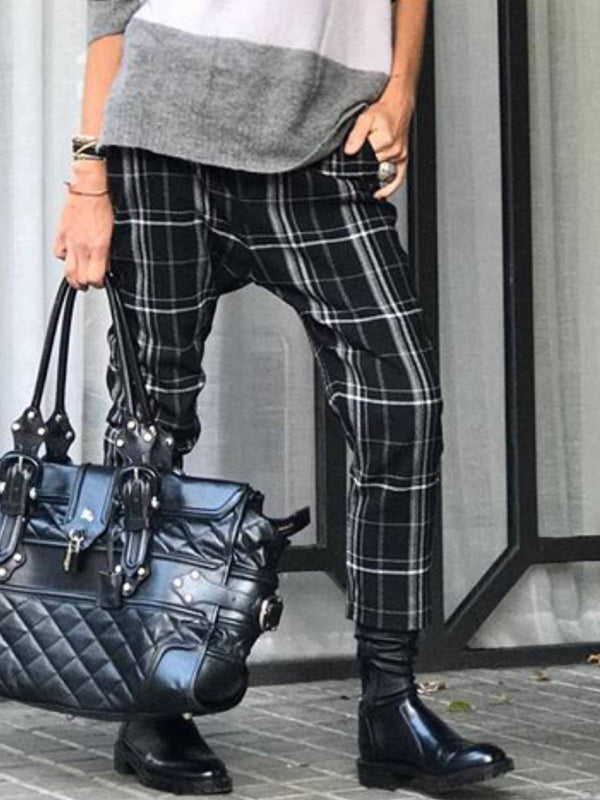 Checkered/plaid Casual Pants