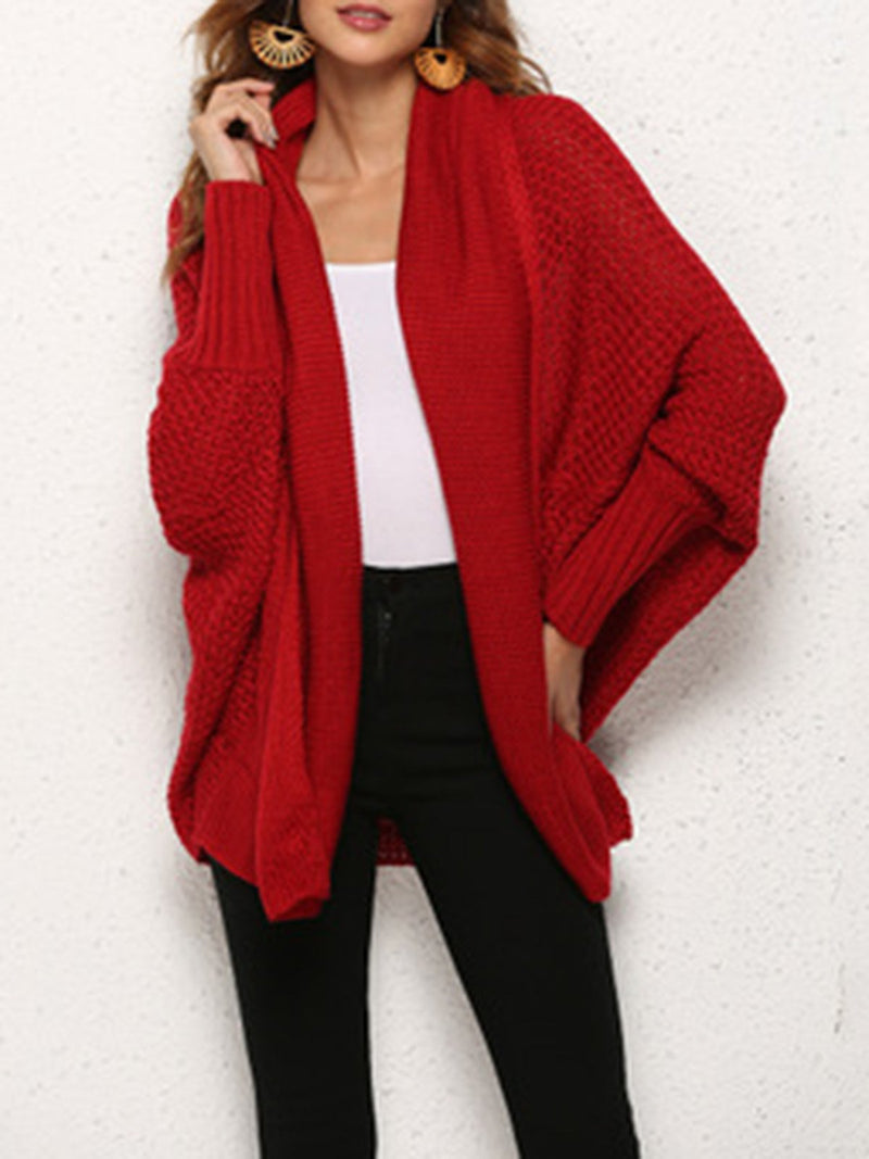 Knitted Solid Casual Acrylic Knitwear