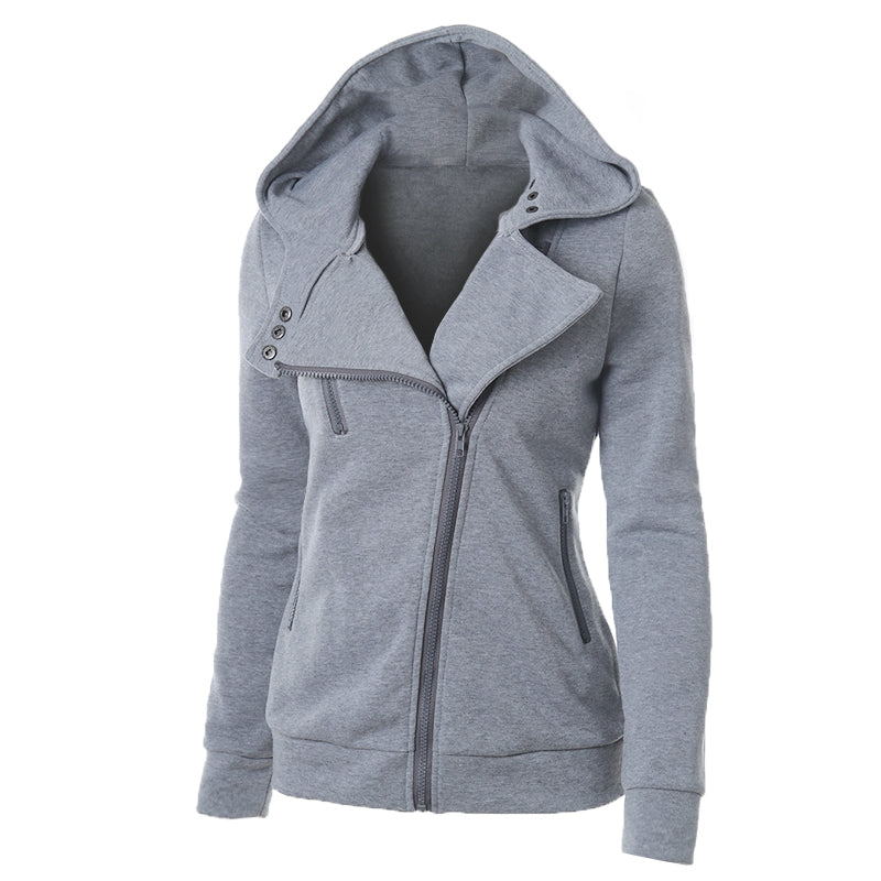Solid Casual Cotton Hoodie Outerwear