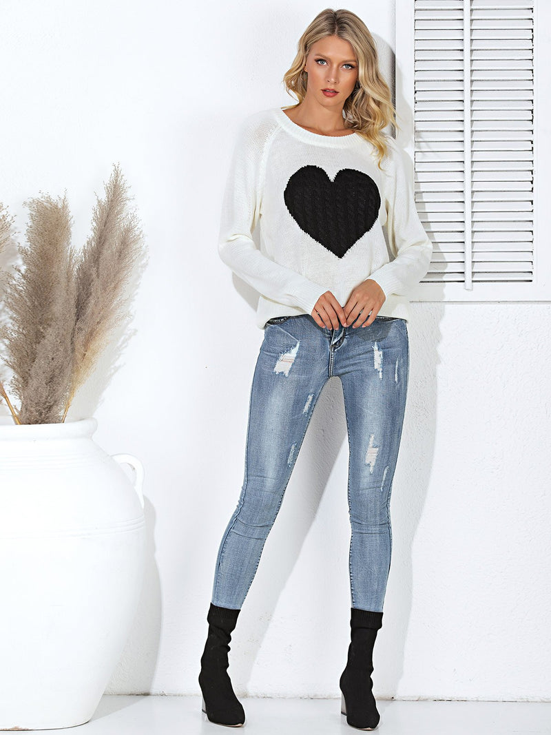 Shift Long Sleeve Casual Crew Neck Sweater