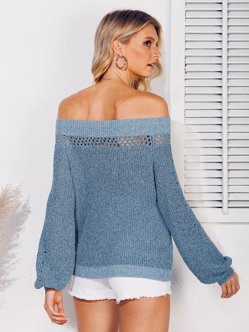 Shift Solid Balloon Sleeve Sweater