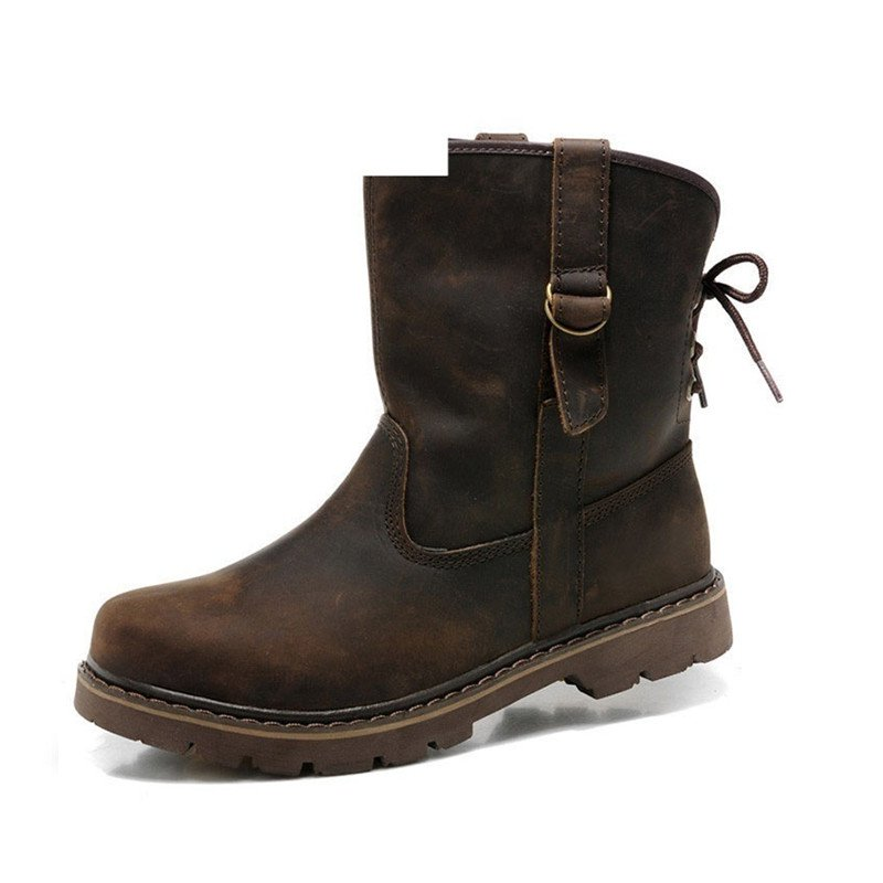 Women's Leather Martin Boots for Women's Vintage Cowboy Shoes