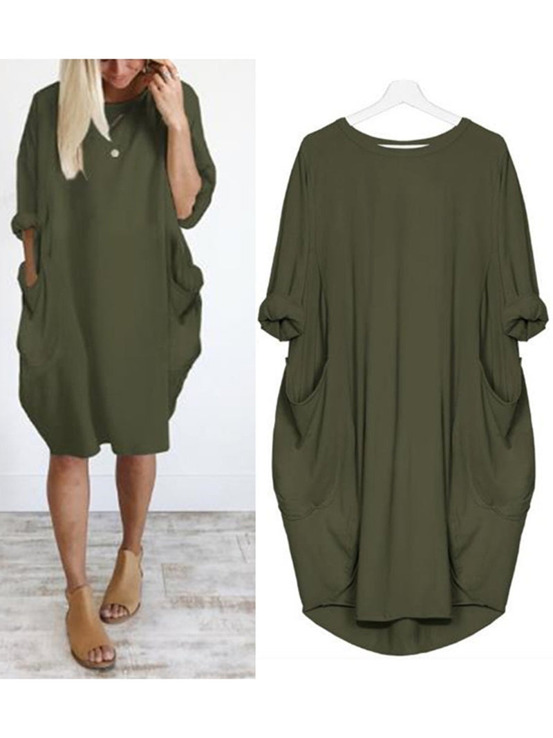 Casual Batwing Dress