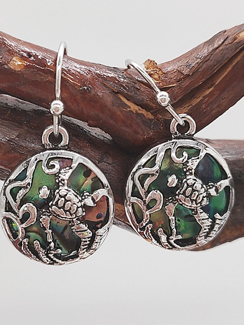 Green Crown Earrings
