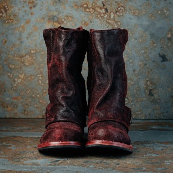 Women's Vintage Leather Booties