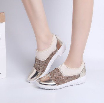 Red PU Spring/Fall Flat Heel Daily Sneakers